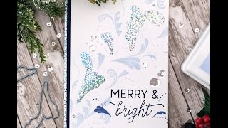 Merry and Bright Flourish Holiday Card