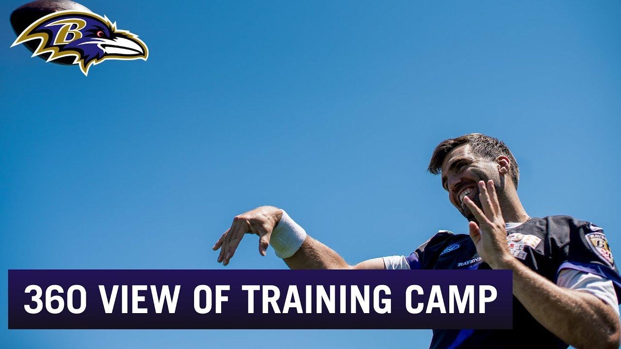 360 degree view of training camp 2018 youtube baltimoreravens ravens nfl publicscrutiny Images