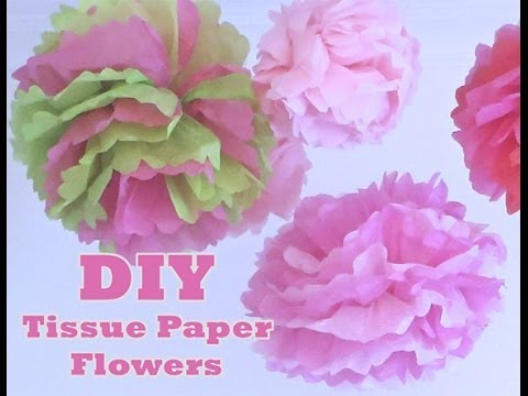 how to make tissue flower balls