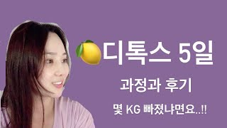 [vlog] 5일 레몬디톡스