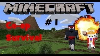 Minecraft Xbox 360 Edition: Split Screen Co-op Survival Gameplay Part 1