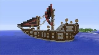 How to build a Medieval Ship in Minecraft ( HD )