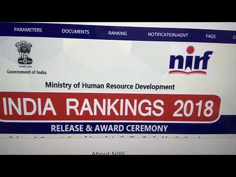 NIRF Ranking 2018 - Top 100 Engineering Colleges in India