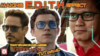 Tutorial Cara Membuat HUD E.D.I.T.H Kacamata Tony Stark Seperti di Film Spider-Man Far From Home