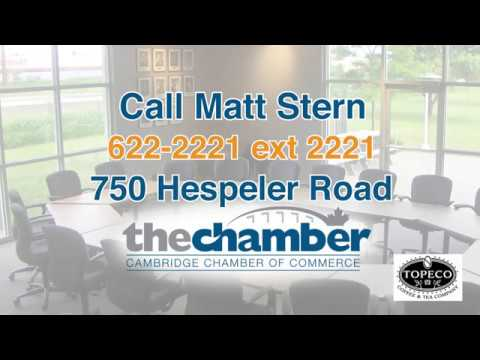 Chamber of Commerce Cambridge BoardRoom Rental Feb 2017