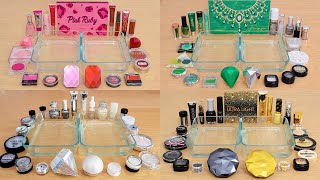 Precious Gems Compilation - Mixing Makeup Eyeshadow Into Slime ASMR #1