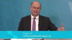 LIVE: Pressekonferenz von Finanzminister Albert Füracker