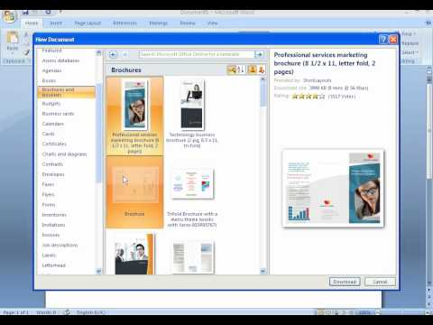 Create a brochure in publisher 2007 funnydog tv for How to design a brochure in word