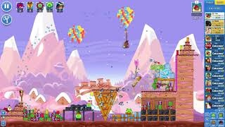 Angry Birds Friends on Facebook SantaCoal & CandyClaus Level 3 No Power Ups 3 Stars Dec 21 2017
