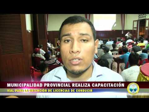 MUNICIPALIDAD PROVINCIAL REALIZA LA CAPACITACIÓN VIAL PARA OBTENCIÓN DE LICENCIAS