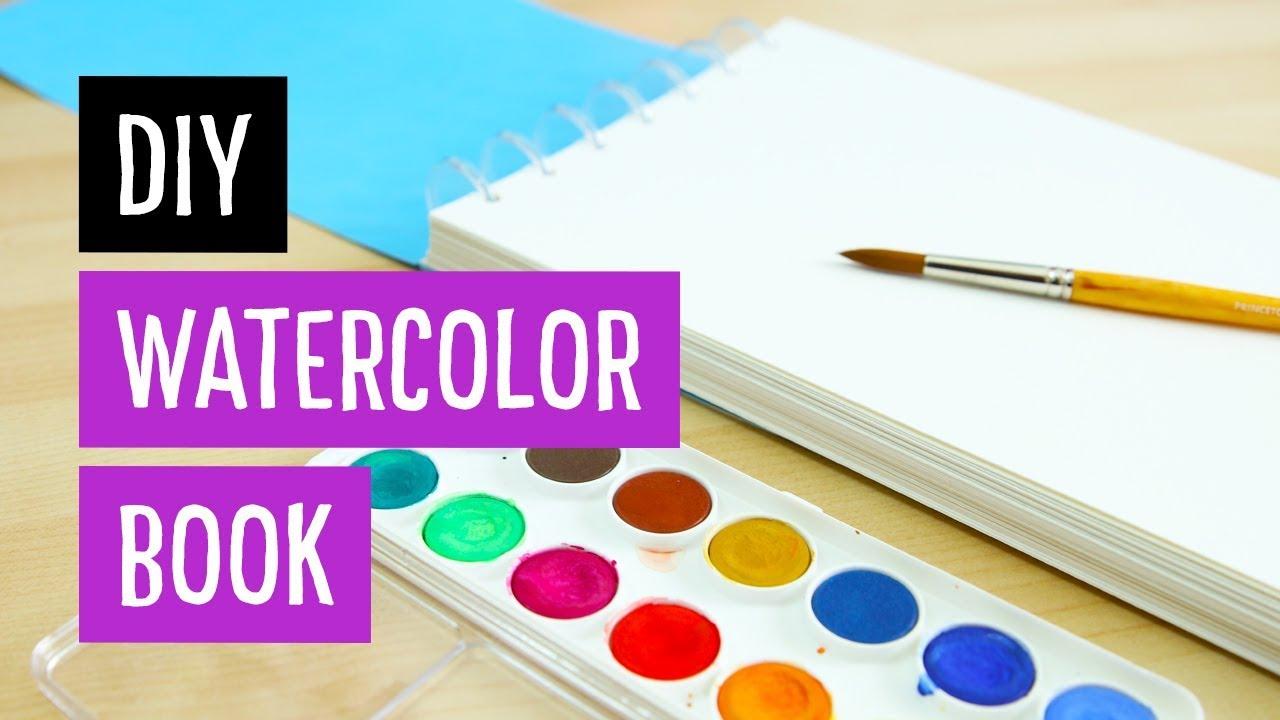 DIY Watercolor Book | Discbound | Sea Lemon - YouTube