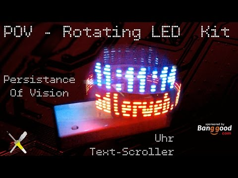 BitBastelei #201 - Rotating LED POV Kit