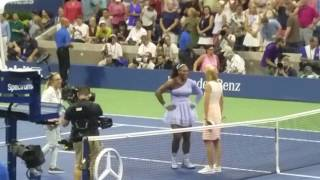 Serena Williams beats Carina Witthoeft & advances to face sister Venus Williams