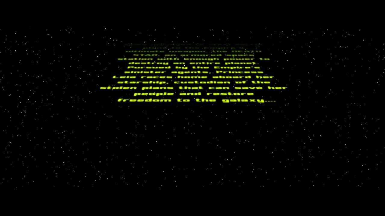 starwars crawl text ( free after effects template ) - youtube, Modern powerpoint
