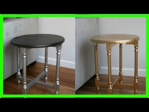 Pintar Un Mueble De Madera En Dorado Youtube