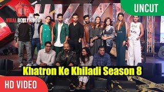 uncut   khatron ke khiladi season 8 launch rohit shetty raj nayak colors tv