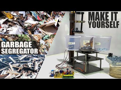 Automated Waste Segregation Bin Garbage Sorting System for R