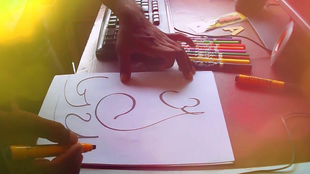Live Akshar Ganesh Calligraphy Name Ajay
