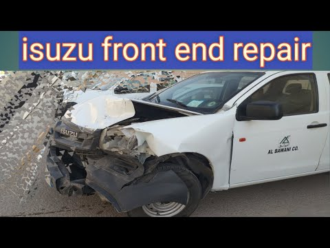 how to isuzu d'max body repairing isuzu front end repair and chang the front half cut