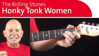 Honky Tonk Woman Guitar Lesson - Verse Intro