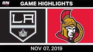 NHL Highlights   Kings vs. Senators – Nov. 07, 2019