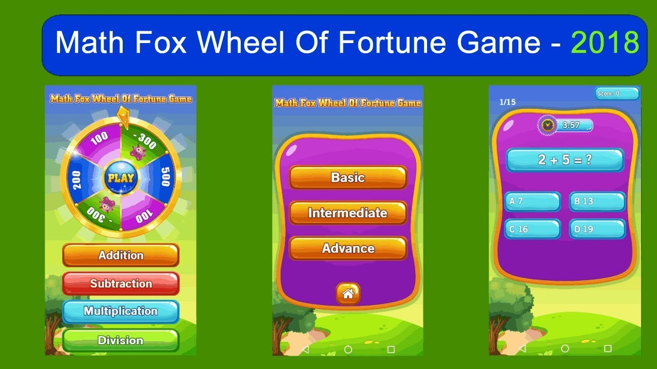 Math Game Wheel OF Fortune - 1st, 2nd, 3rd, 4th, 5th, 6th, Grade ...