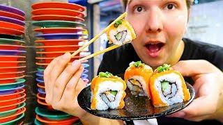 100 Sushi Conveyor Belt Challenge • MUKBANG