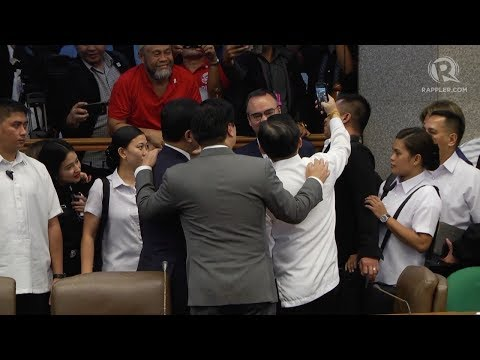 Bong Go, Trillanes take selfie after Senate probe into frigates deal