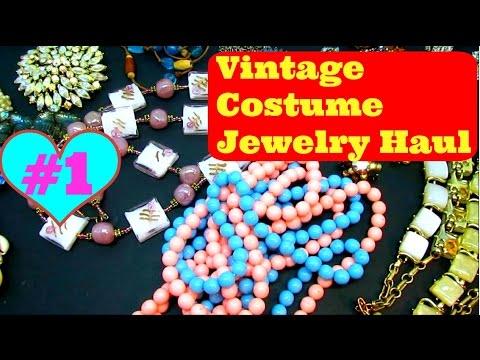 Vintage Costume Jewelry Haul #1 - January 2016 - Garage Yard Estate Sale