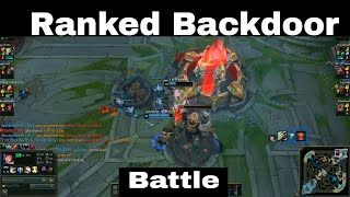 The meaning of backdoor~league of legends ~ Destroy all the base (Ranked)