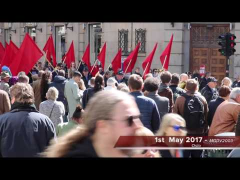1st May 2017 Oslo Norway - 1st mai Oslo 2017 ஒஸ்லோ நோர்வே