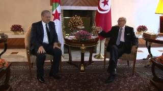 لقاء رئيس الجمهورية بالسيد عبد المالك سلال الوزير الأول الجزائري بمقر الإقامة بزرالدة