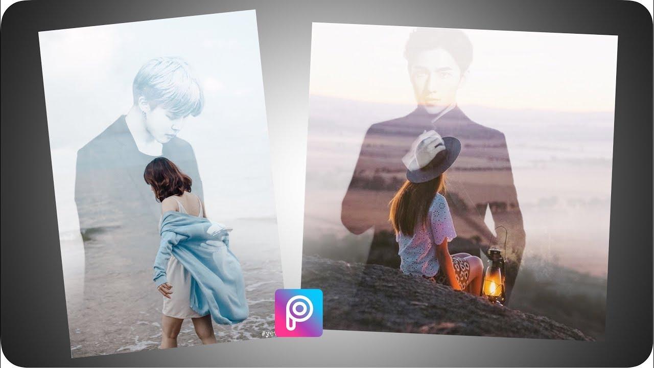 【 PicsArt 】Hướng Dẫn Lồng Ảnh Cặp Đôi | Double Exposure Tutorial ❤️