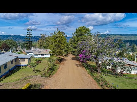 4K Aerial Drone footage of Ukarumpa and the Kassam Pass