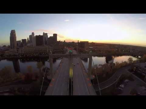 Nicollet Island Fly over