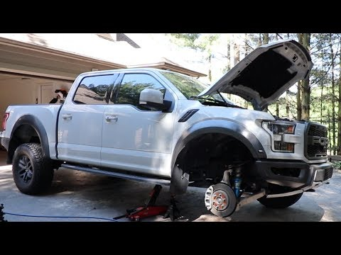 2017 Ford Raptor first upgrade RPG spring collar leveling kit installation