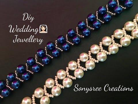 Elegant Pearl Beaded Bracelet, Wedding Jewelry 👰🏻 Super