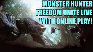 QBG Plays- Monster Hunter Freedom Unite! Online play on Hunsterverse!