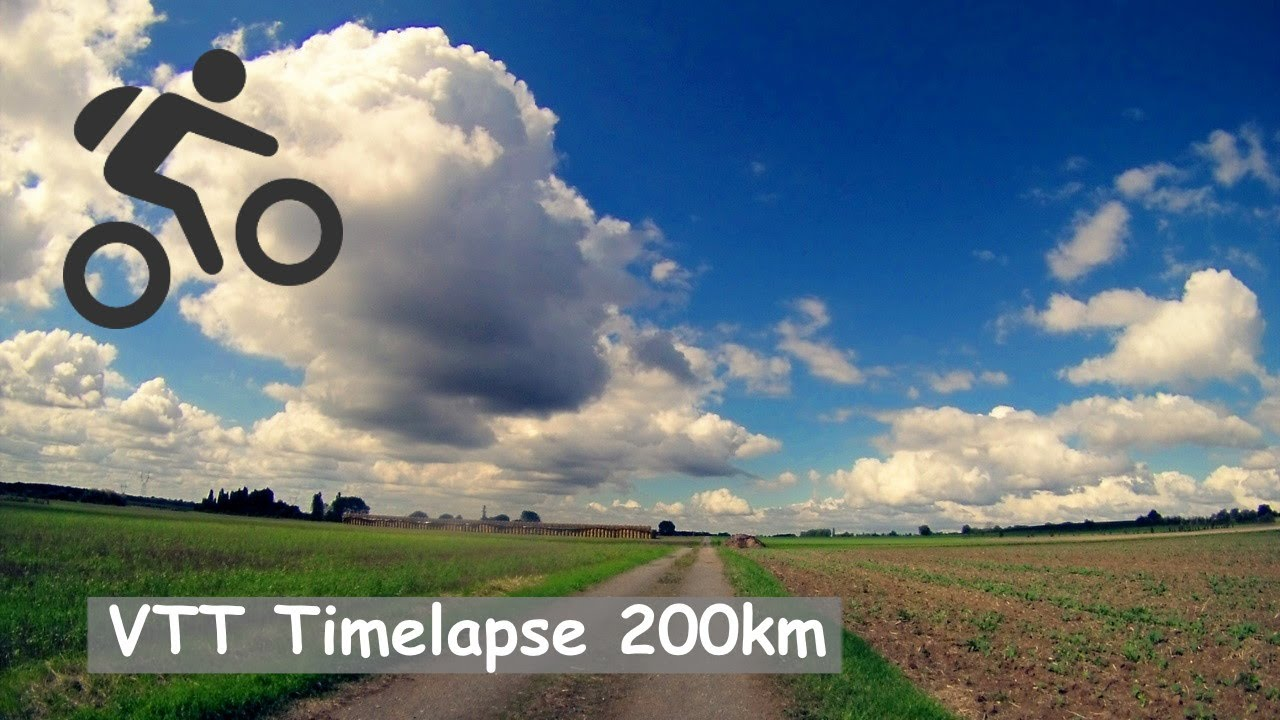 VTT Timelapse HD La Flèche  Saint Malo du Bois (200km  ~ St Malo Du Bois