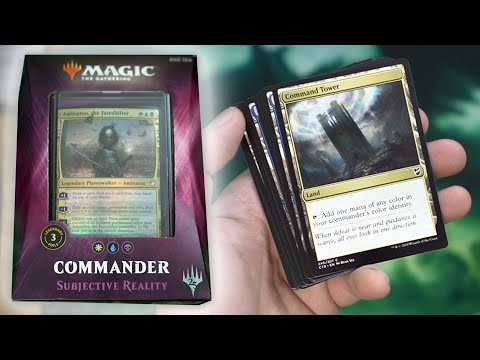Unboxing - Deck COMMANDER 2018: Subjective Reality | Magic The Gathering