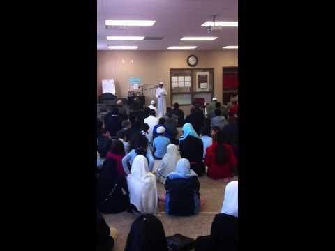 My 9 year old Pre-Jumma Khutba - Surah-Al-Insan @ Lexington Universal Academy (Islamic School)