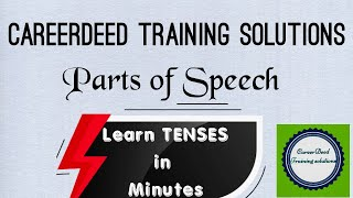 Session 2 | Important - parts of speech | Learn tenses and rules in Minutes with full explanation