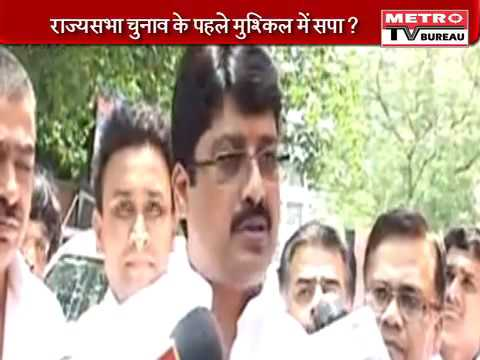 Samajwadi Party Supremo Mulayam Singh Yadav And Cm Akhilesh Meets