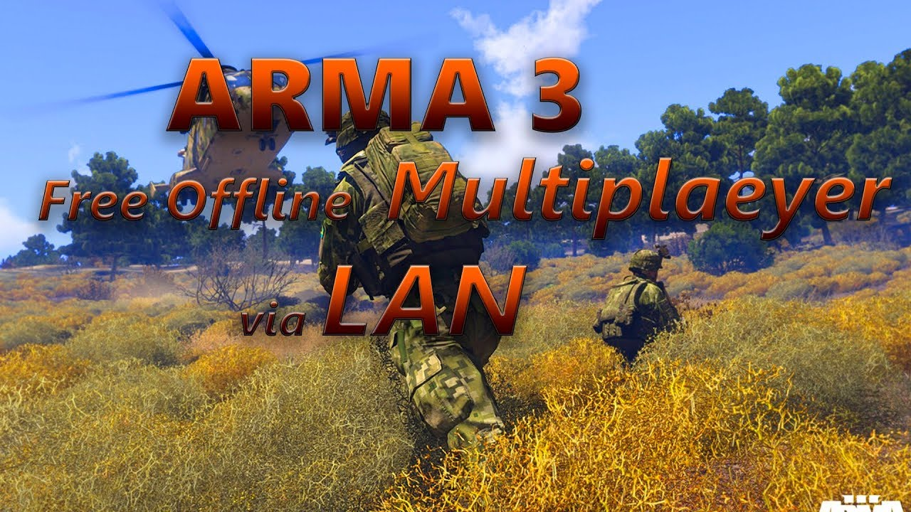 How to run Arma 3 Free multiplayer Offline via LAN Connection