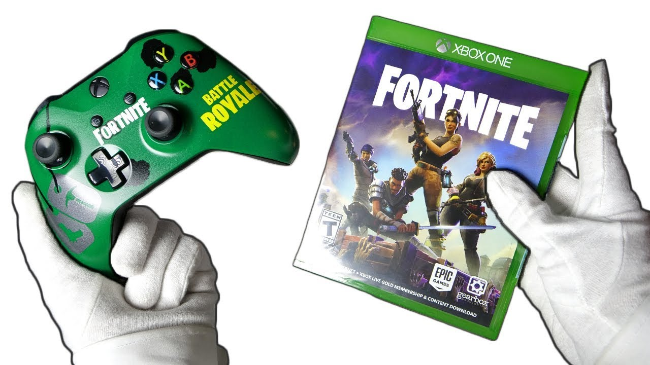 Fortnite Controller Rare Physical Copy Unboxing Fortnite Battle Royale Custom Paint Giveaway Youtube