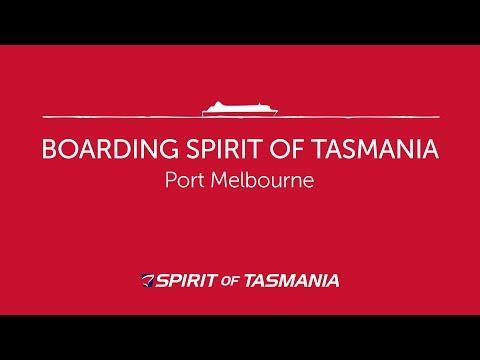 Boarding Spirit Of Tasmania In Port Melbourne