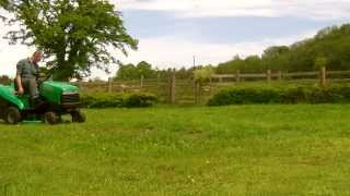 John Deere Europro ride on lawn mower demo. 1238GR