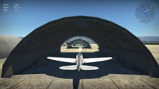 Flight through the hangar War Thunder