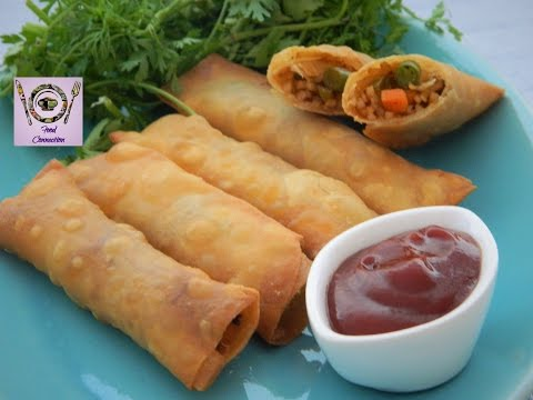 Veg Noodle Spring Roll | Crispy Spring Rolls In Three Way | Chinese Starter | - By Food Connection