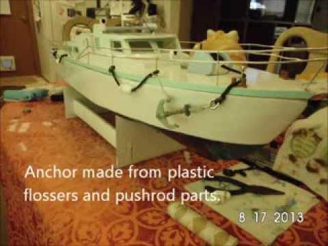 How To Make A Scale Rc Foam Board Boat Youtube